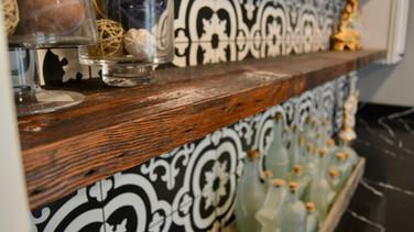 Reclaimed Pine Shelves & Mantle