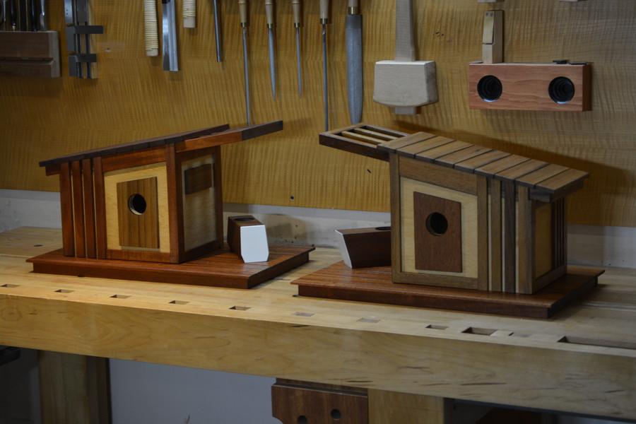 Mixed Scraps of Teak, Sapele and plywood.