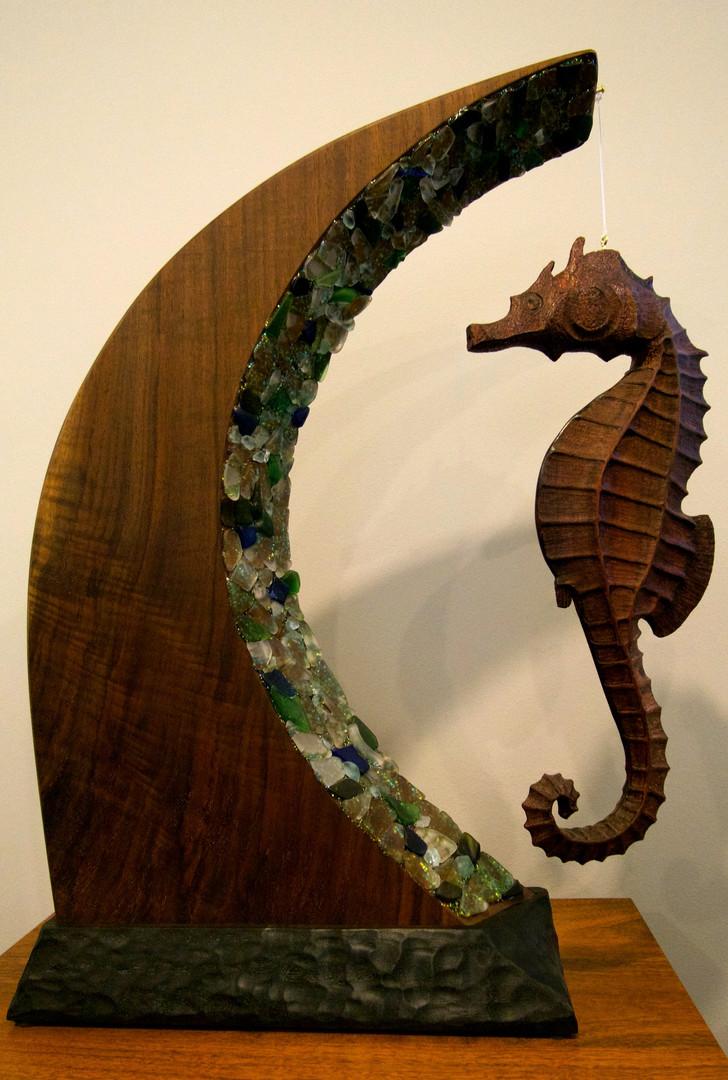 Hippocampus Wave Sculpture