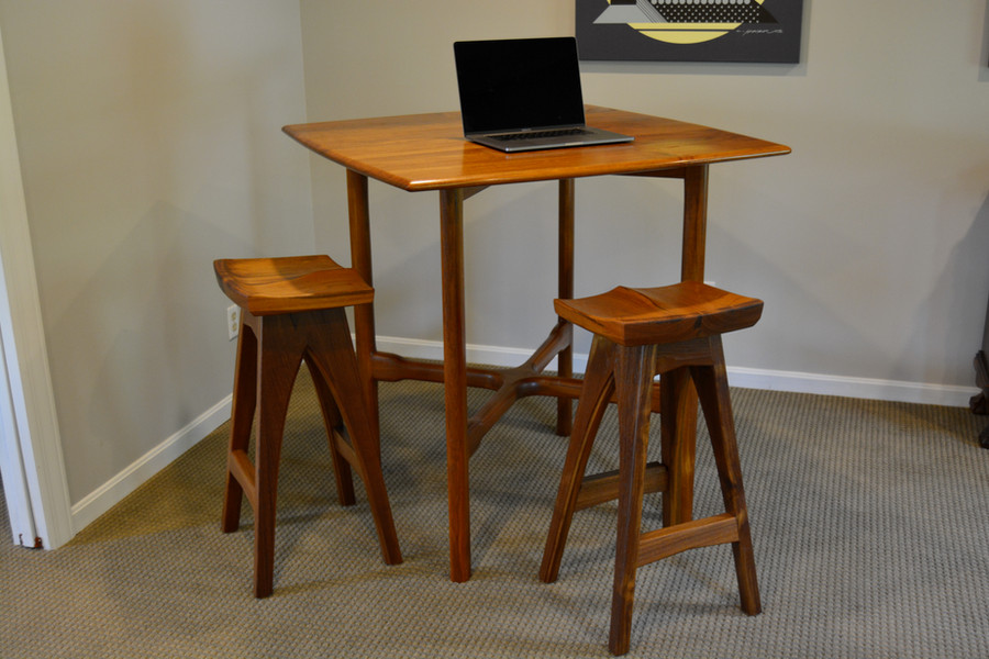 Teak Bistro Table and Stools