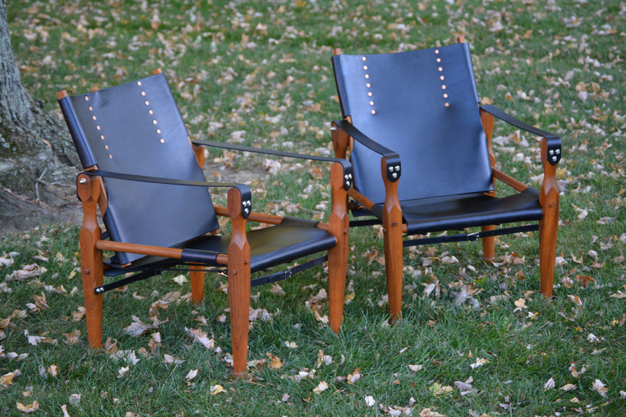 Roorkhee Chairs in Sapele and Leather