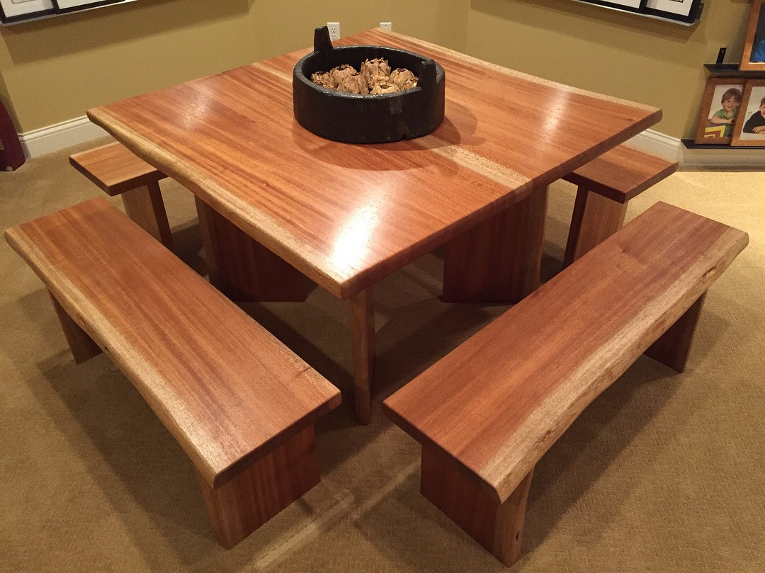 Niagon Live Edge Table and Benches