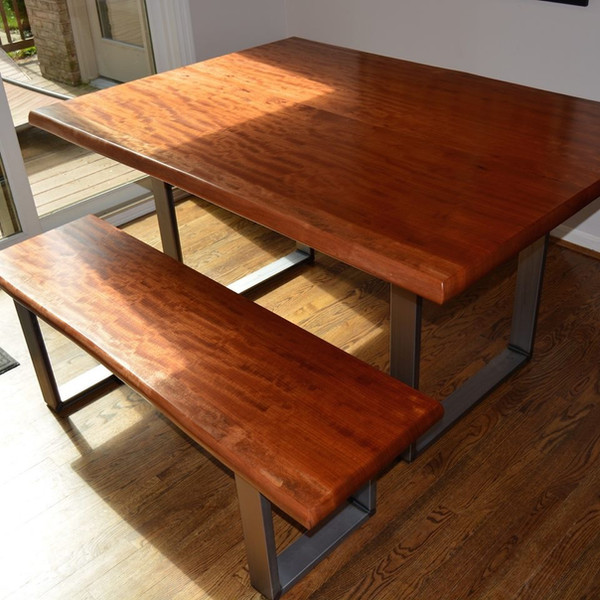 Kitchen Table in Makore and Steel