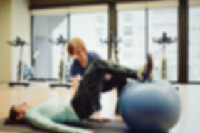 Hamstring curls on stability ball