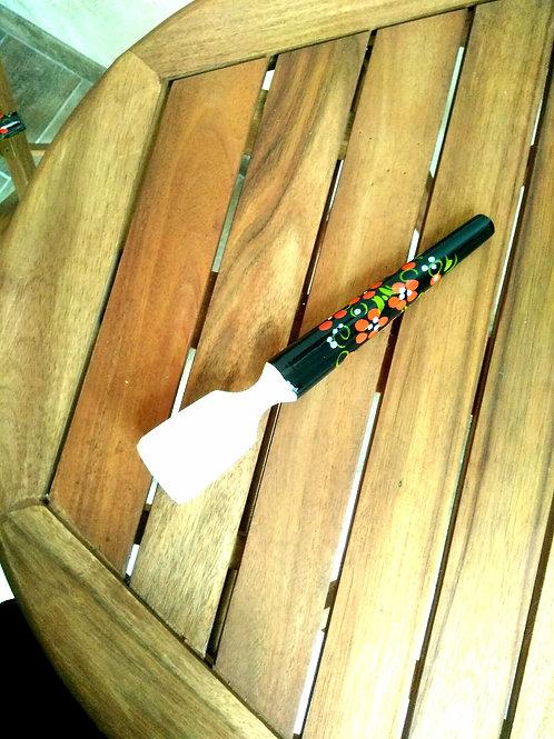 Presse purée en bois decore Khokhloma