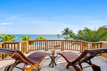 balcony view from dolphin bungalow at si