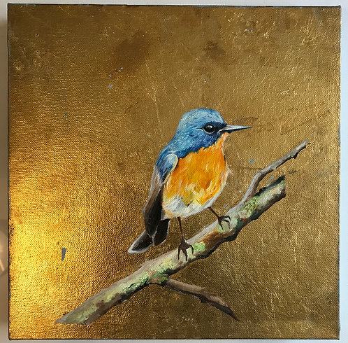 Oil Painting with Goldleaf Background