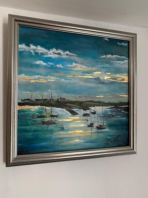 Original Oil/Acrylic Painting Bradwell Marina