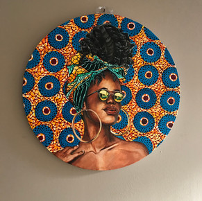 African woman textile