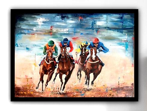Original Oil Painting - 'Desert Racing'