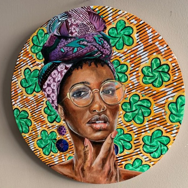 African woman textile series 2