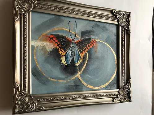 Original Oil Painting Butterfly