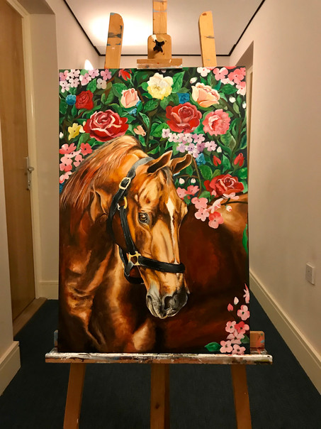 Horse with Flowers