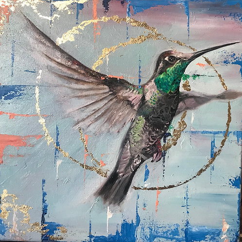 Oil Bird Painting (40cm by 40cm)