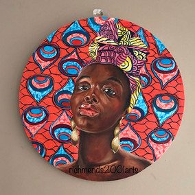 African Woman textile 2