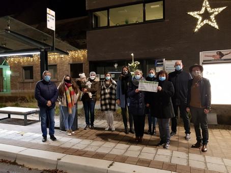 Kerstbomenactie levert meer dan 600 euro op voor kansarme gezinnen