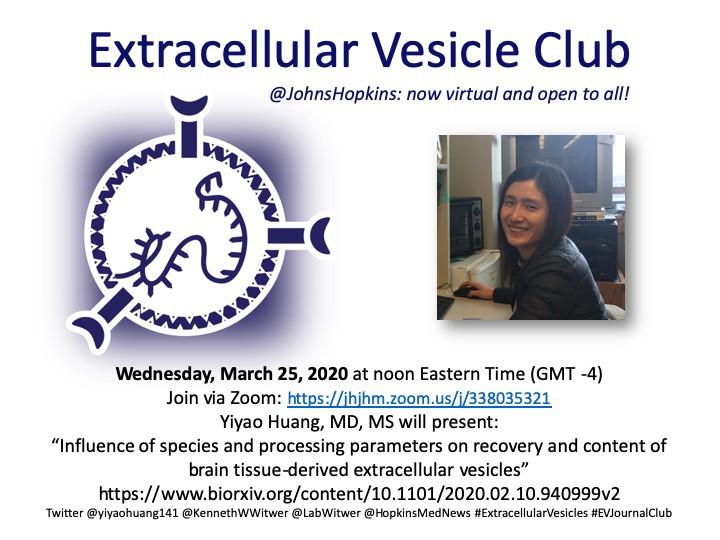 Virtual EV-Journal club