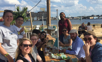 Fun outing with the lab today to say farewell as Nick returns to Canada
