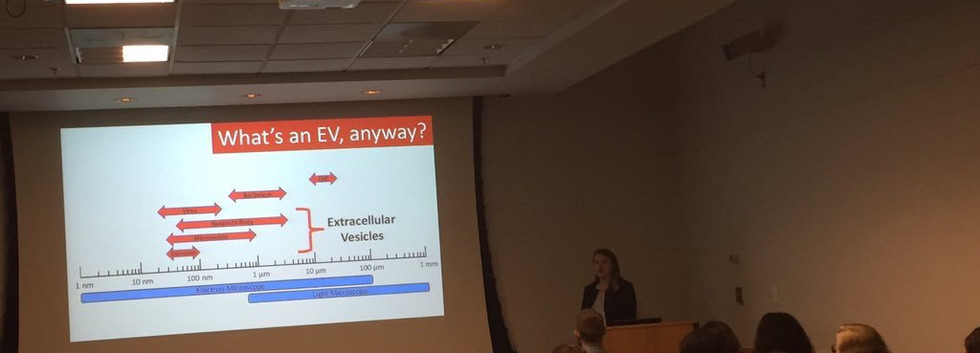 Aimee Pepper on a fantastic presentation  on her summer vet student project
