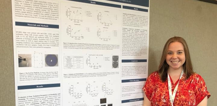 Emily presenting her poster at MRS 2019