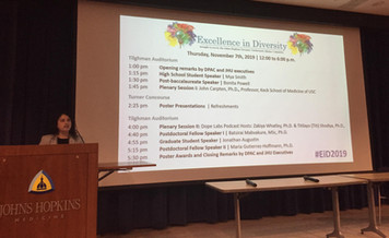 Excellence in Diversity, JHU November 7th