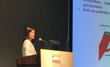 Yiyao at her oral presentation ISEV 2019