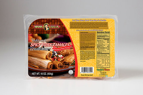 Traditional Spicy Pork Tamales