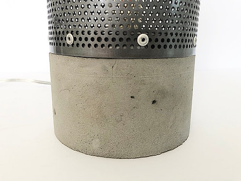 Concrete and Steel lamp