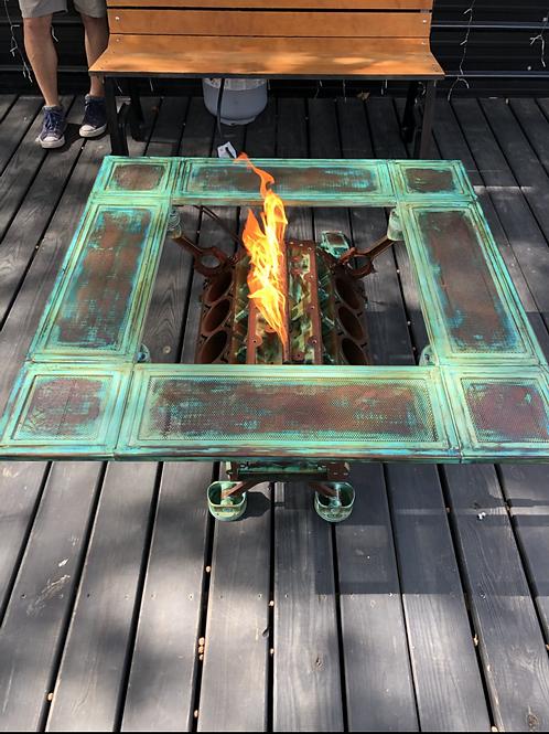 Custom Engine block fire pit
