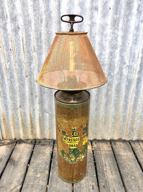 Vintage Fire Extinguisher Lamp brass