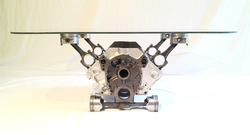 Engine Block Coffee Table Silver