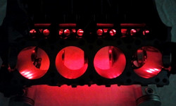 Red LEDs on Engine Block table