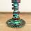 Thumbnail: Teal and steel patina lamp
