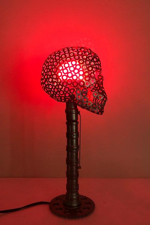 Metal Skull lamp (made to order)