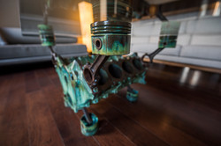 Patina Engine Block table