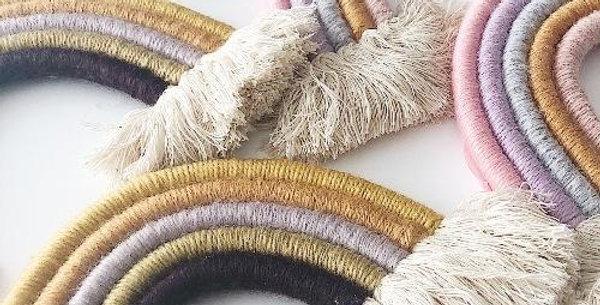 DIY Rainbow Macrame Wall Hanging Kit