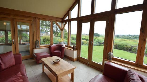 oak orangery inside view