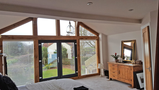 Oak extension inside view