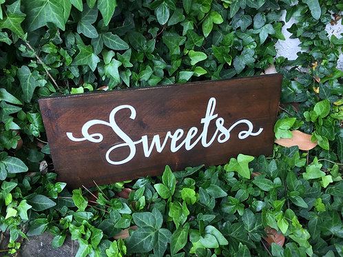 Wooden Sweets Sign