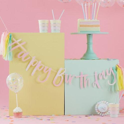 Happy Birthday Bunting w/ Tassels