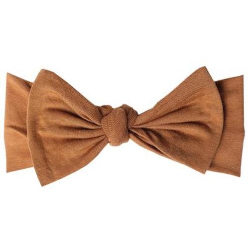 """Knit Headband Bow """"Camel"""""""