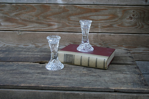 Trumpet Glass Candlesticks