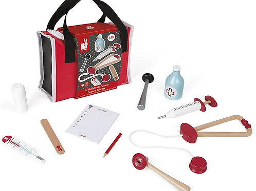 Classic Wooden Doctor's Kit
