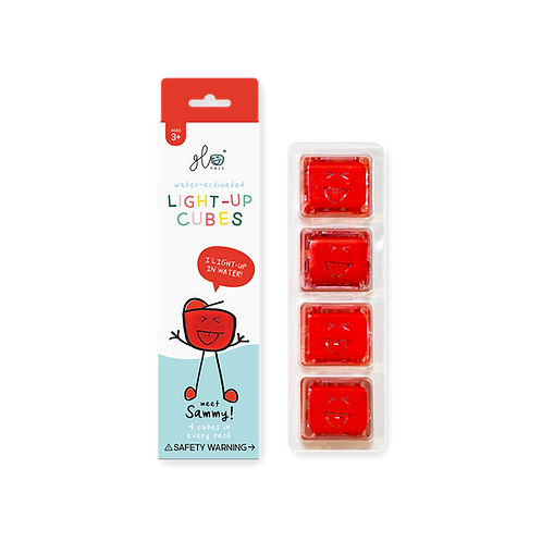 Sammy - Red Light Up Cubes