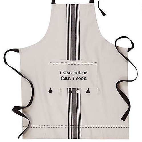 """I kiss better than I cook"" Apron"