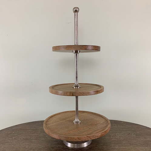 3 Tiered Wooden Cupcake Stand