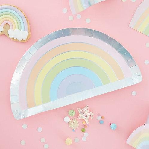 Pastel & Iridescent Rainbow Plates