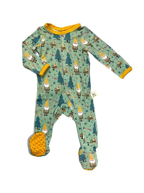 """Kozi & Co Footed Sleeper w/ Snaps """"Gnome"""""""