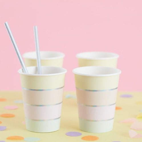 Striped Pastel Party Cups
