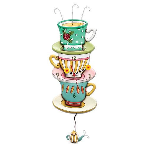Spot of Tea Pendulum Clock